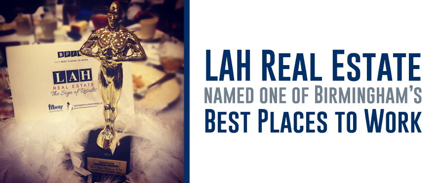 "LAH is honored to be one of the ""Best Places to Work"" in Birmingham"