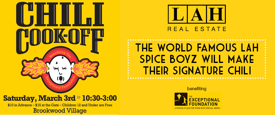 LAH gives back by participating in a chili cook off in March!